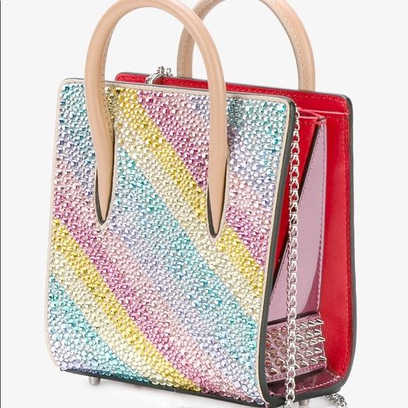 237bb59930 Christian Louboutin Paloma nano crystal mini bag